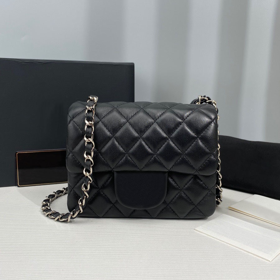 تصميم فاخر حقيبة الإناث حقيبة امرأة 2021 المرأة العلامة التجارية حقيبة كتف حقيبة يد جلد الخراف سلسلة حقيبة Lingge CF نسخة نمط ساخن