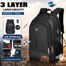 16 pulgadas Mochila portátil hombres multifuncional impermeable mochilas para hombre de carga USB de viaje Mochila para mujer bolso escolar Bolsa Mochila