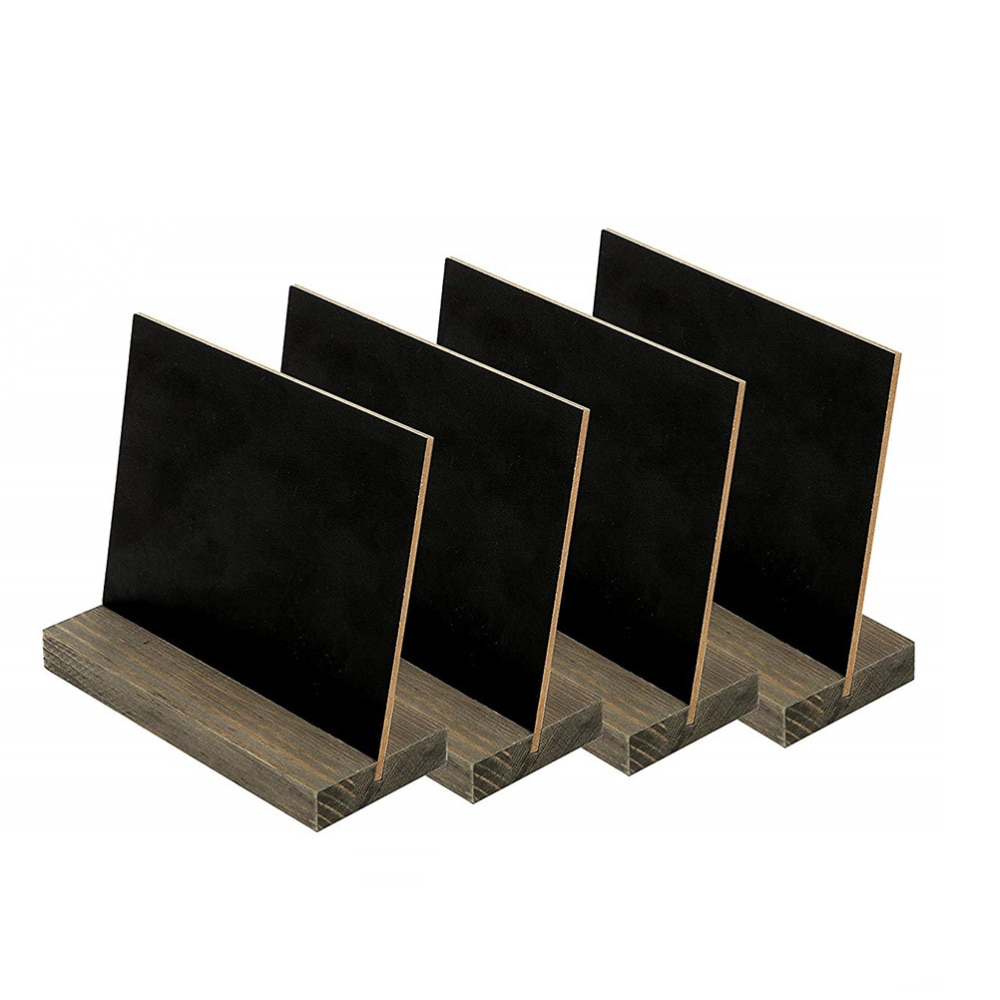8pcs 10pcs Mini Tabletop Chalkboards Signs Wooden Framed Small Blackboard with Removable Base for Restaurant Wedding
