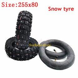 10 polegadas 255x80 pneu 10x3.0 externo interno pneu fora de estrada neve e pneu de gelo para scooter elétrico speeduplo graça 10 zero 10x kugoo m4