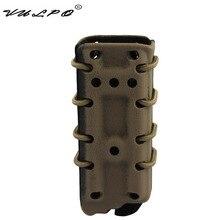 VULPO tactique 9mm pochette de magazines à dégagement rapide rapide Mag étui en Nylon boîte pour accessoires de chasse de ceinture de système Molle