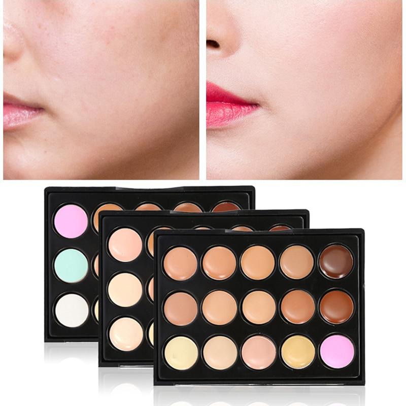 2020 Corrector de Color de maquillaje Corrector de cara cobertura completa Corretive larga duración maquillaje de contorno facial 15 colores paleta correctora