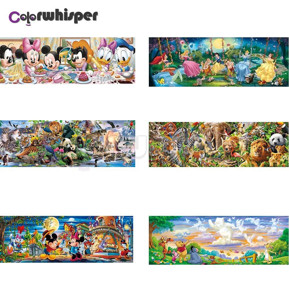Cuadro de diamantes cuadrado completo/redondo, dibujo de bosque, ratón, oso, Princesa, Animal, Winnie The Pooh, Daimond, pintura Z136
