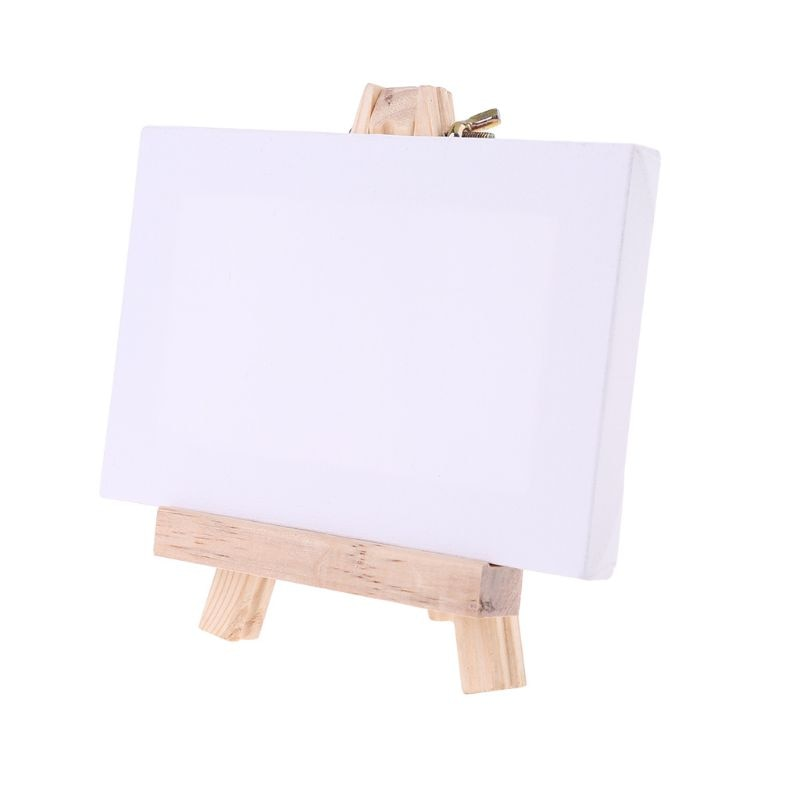 Mini Canvas Natural Wood Easel Set For Art Painting Drawing Craft Wedding Supply New enlarge