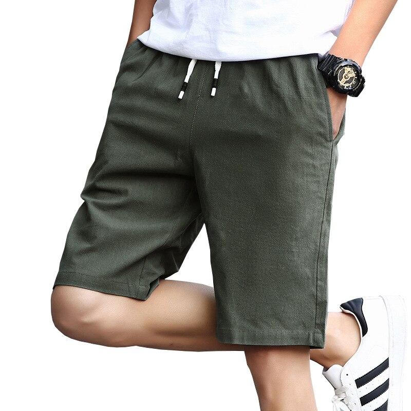 5XL 4XL Plus Size Mens Shorts Verão Novo Casual Mens Shorts Algodão Moda Estilo Homem Marca Shorts de alta qualidade Shorts de praia masculinos Homens Sweatpants curtos