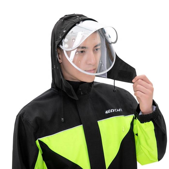 Electric Motorcycle Raincoat Waterproof Rain Suit Pants Black Green Men Women Outdoor Full Body Split Breathable Raincoat enlarge