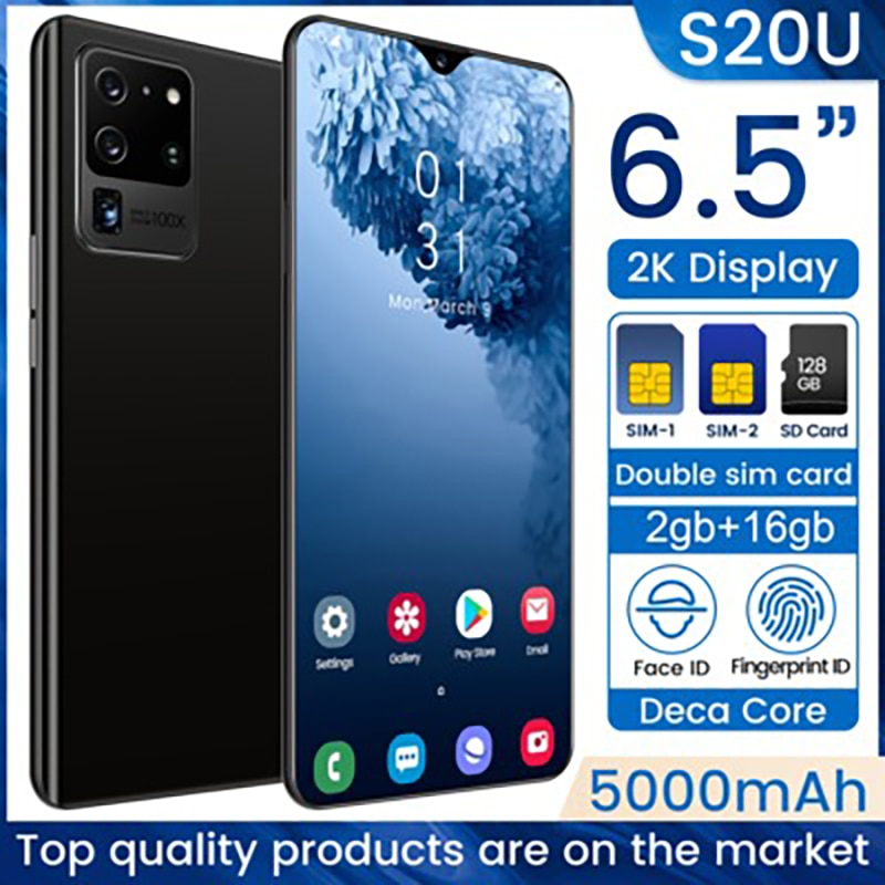Novo 7.5-inch galay s20 rede global entregar snapdragon 855 smartphone 8gb ram 256gb rom octa núcleo 4 câmera global telefone estoque