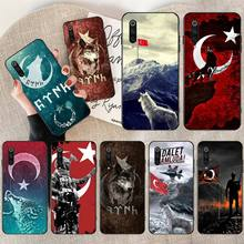 HPCHCJHM Turkey soldier Wolf Black TPU Soft Phone Case Cover for Xiaomi Mi10 10Pro 10 lite Mi9 9SE 8