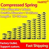 hotxyz cylidrical coil compression small spring y type return pressure 65mn compressed spring steel wire diameter 1 8mm