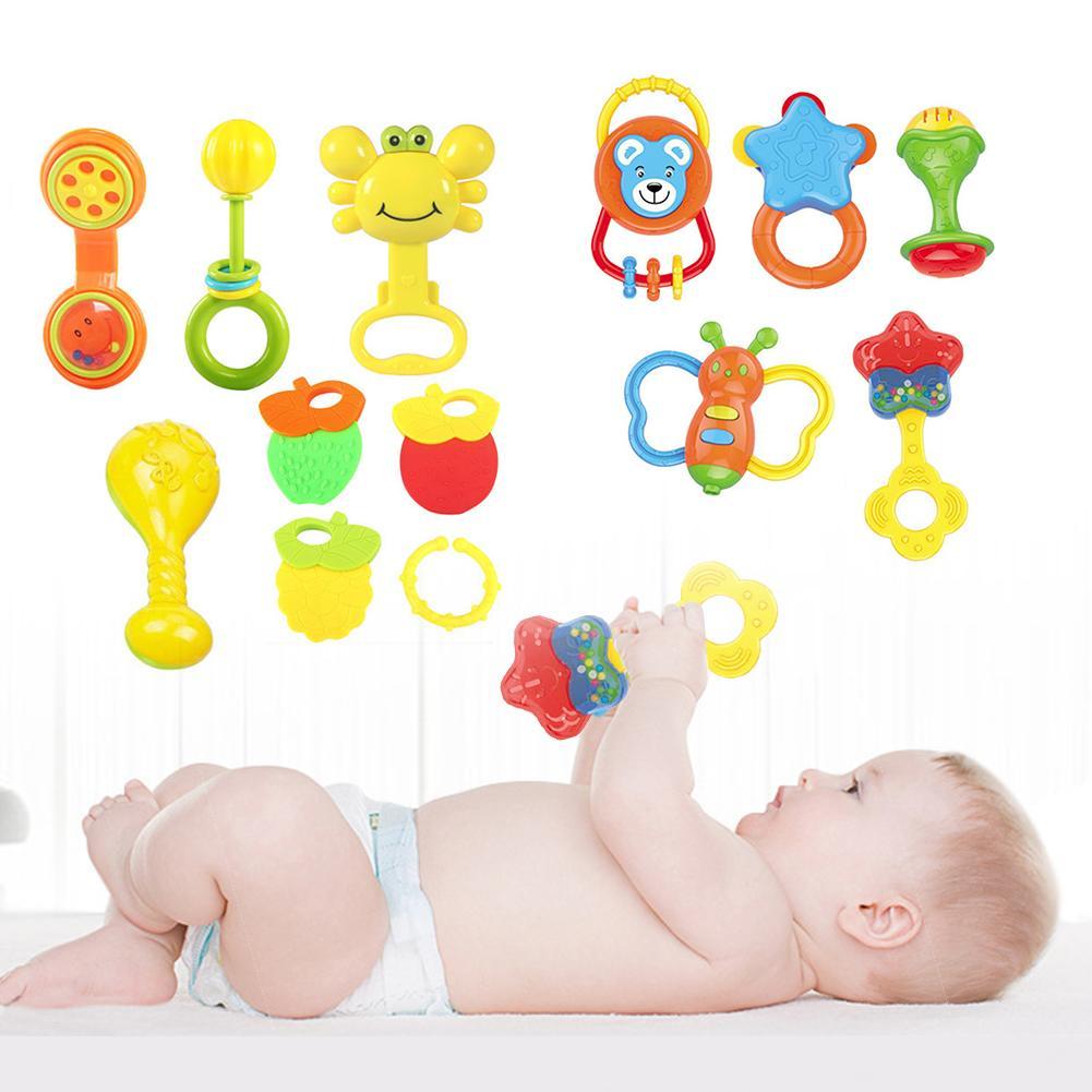 5/8 шт. Детские спина погремушка музыкальный грызунок игрушки Игрушки для раннего развития детей игрушка набор Игрушки для раннего развития ...