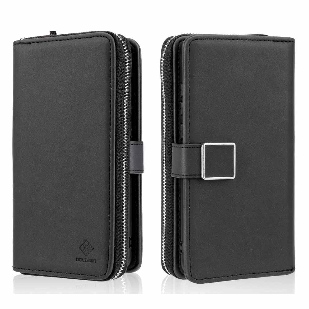 Para Huawei P30 funda de teléfono con Tapa de cuero con cremallera 2 en 1 para Huawei P30 Lite funda de bolso multifunción
