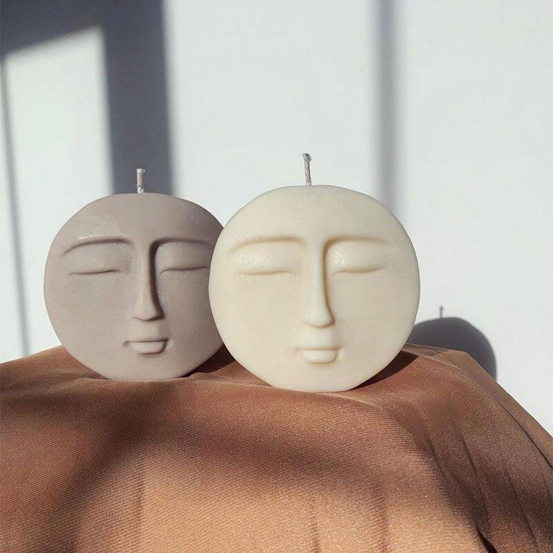 Замороженная силиконовая форма для свечей, простой дизайн лица, ароматерапия, изготовление свечей, диффузор, глина, диатомит, форма