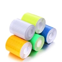 1 roll car reflective tape sticker safety mark car styling self adhesive warning tape motorcycle bicycle film decoration tool