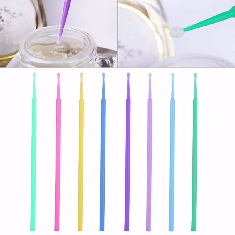 100Pcs/bag Disposable Micro Brush Eyelashes Extension Individual Lash Removing Swab Micro Brush For Eyelash Extension Glue Tools