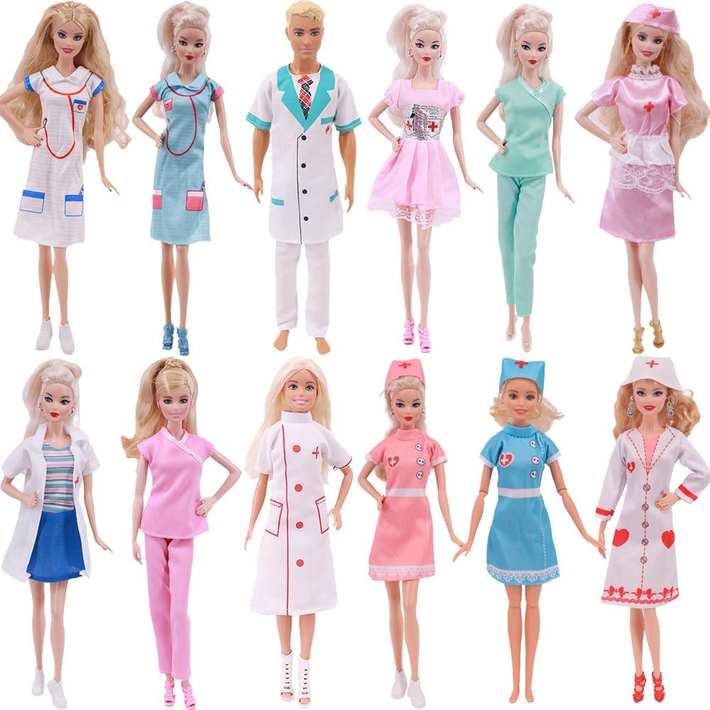 3 предмета одежды Барби костюм Доктора медсестры сцена косплей одежда для 11 дюймов 26-28 см Барби Куклы, аксессуары для Барби