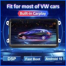 Lecteur multimédia autoradio Android 2 Din pour VW Passat B6 b7 Tiguan Golf 5 Polo Jetta Skoda Octavia Touran GPS voiture intégrée