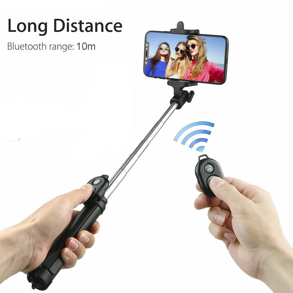 Wireless Selfie Stick Vlog Extendable with Bluetooth Remote Tripod Mount Phonr Holder For Youtube iPhone Huwwei Xiaomi Samsung enlarge
