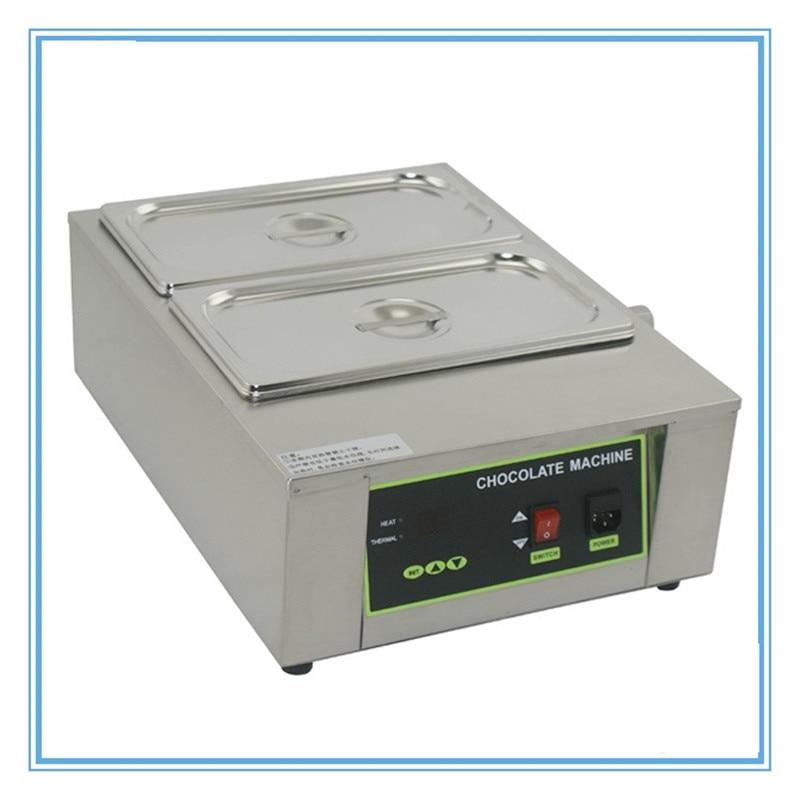 Электрическая плавильная печь для шоколада, 110 В 220 В, нагрев воды, 2 цилиндра, нержавеющая сталь