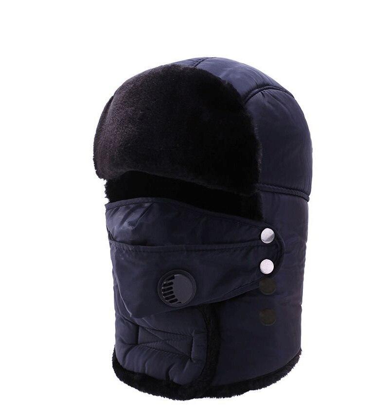 Women's Men's Ear Protection Face Bomber Hats Thicker Plus Velvet Warm Women Winter Hat Resist The S