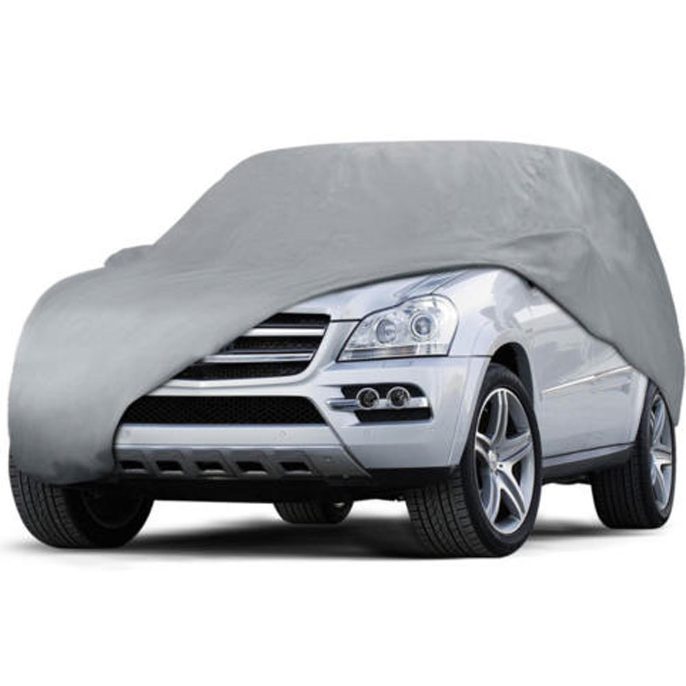 Weatherproof PEVA Car Protective Cover with Reflective Light Silver Gray YM