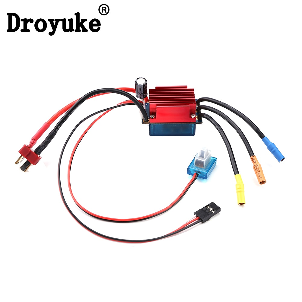 Hot sale 35A ESC Electronic Brush Speed Controller Wafterproof 2S Lipo Cells for 1/16 1/18 RC Car Of