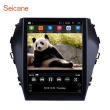 Seicane 9.7 인치 안드로이드 9.1 자동차 자동 라디오 헤드 유닛 플레이어 2015 2016 2017 현대 santafe ix45 gps 네비게이션 swc 와이파이