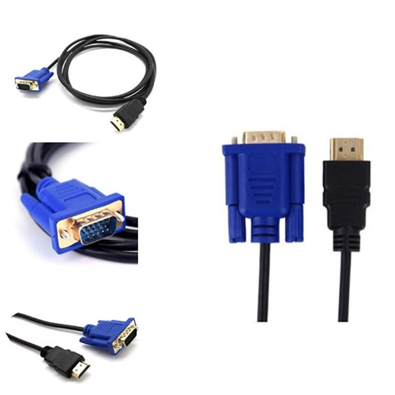 1pc 1M Cable HDMI a VGA HD 1080P con Cable de Adaptador...
