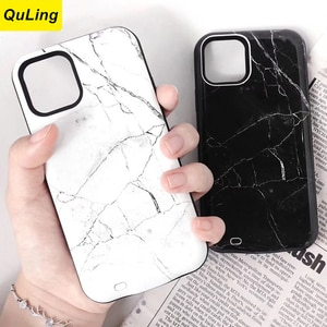 QuLing Marble Fashion For IPhone 12 Mini 12 For Iphone 12 Pro Max Battery Case Battery Charger Bank Power Case