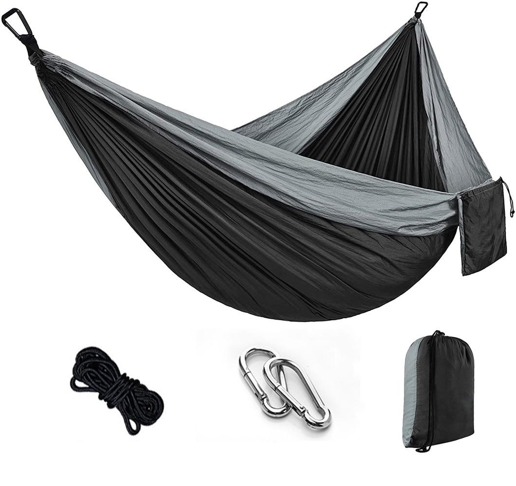 aliexpress.com - Portable Camping Hammock,Double Hanging Bed,Lightweight Nylon Parachute Hammock, Outdoor Survival Travel Leisure Sleeping