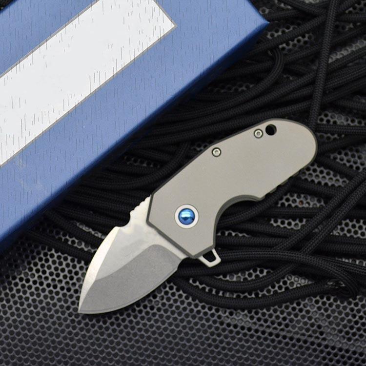 BM 756 Folding Knife Titanium Alloy M390 Powder Steel High Hardness Outdoor  Pocket Knives EDC Defenses Tool HW341
