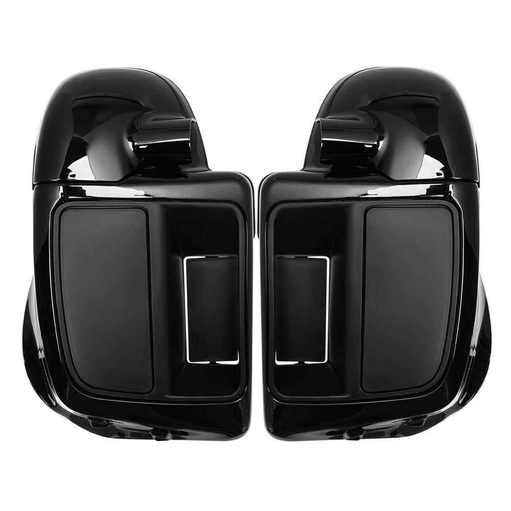Caja de guantes de carenado de pierna baja negra para Harley Touring Street Glide Ultra Road King 2014-2019