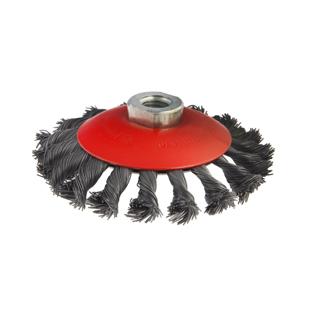 Cabo escova martelo flex 207-113 125mm m14 radial torcido rígido, para moedores de ângulo
