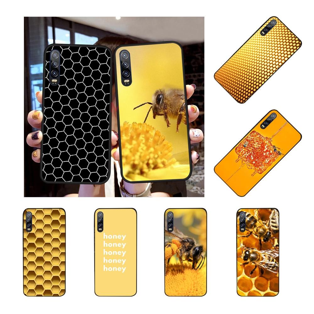 NBDRUICAI abeja de panal dorada, funda de teléfono con estampado DIY para Huawei Honor 20 10 9 8 8x 8c 9x 7c 7a Lite view