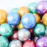 1 set 30pcs 510inch chrome metallic latex balloons metallic globos air helium balloon birthday party decor ballons