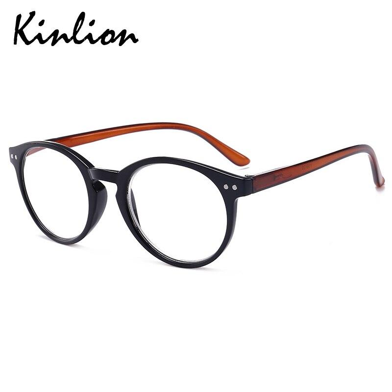 Kinlion עגול נשים משקפי קריאה שקוף מרשם משקפיים גברים באיכות גבוהה אביב רגליים רוחק משקפיים לקריאה