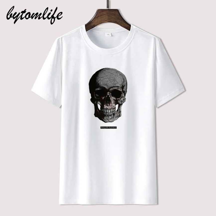 AliExpress - 2021 Cool plein cool logo Men women Summer 100% Cotton Black Tees Male Newest Top Popular Normal Tee Shirts unisex