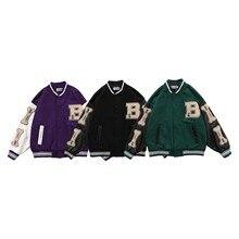 Ybaby Hip hop trend color matching jacket men's clothing Harajuku Street pilot jacket men's Baseball