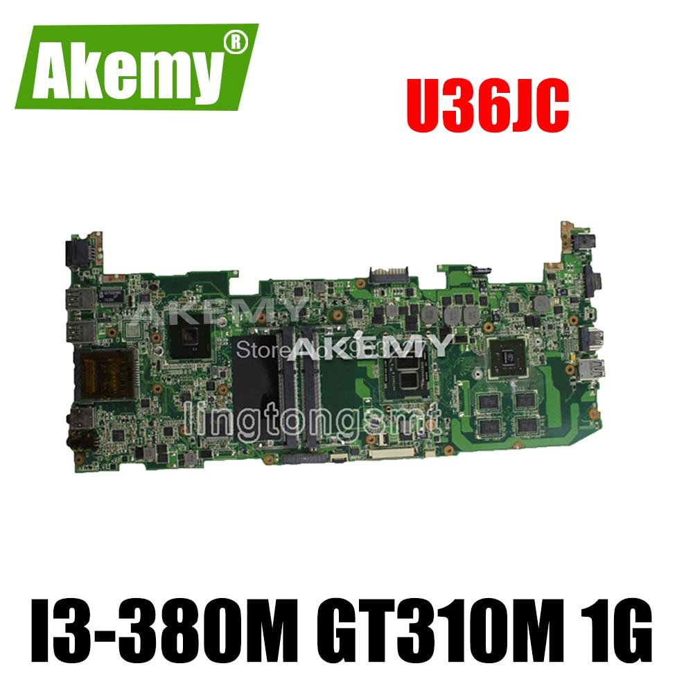 Para For For For For Asus U36JC placa base con procesador i3-380M/390M GT310M con 1GB DDR3 VRAM 100% probado ok placa base
