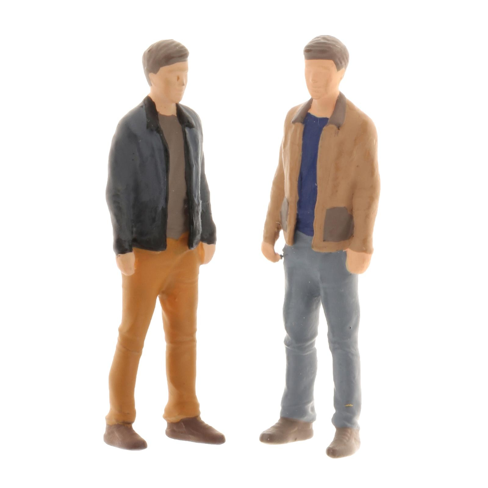 1pc Mini 1/64 Scale Diorama Painted Figure Resin Man Characters for