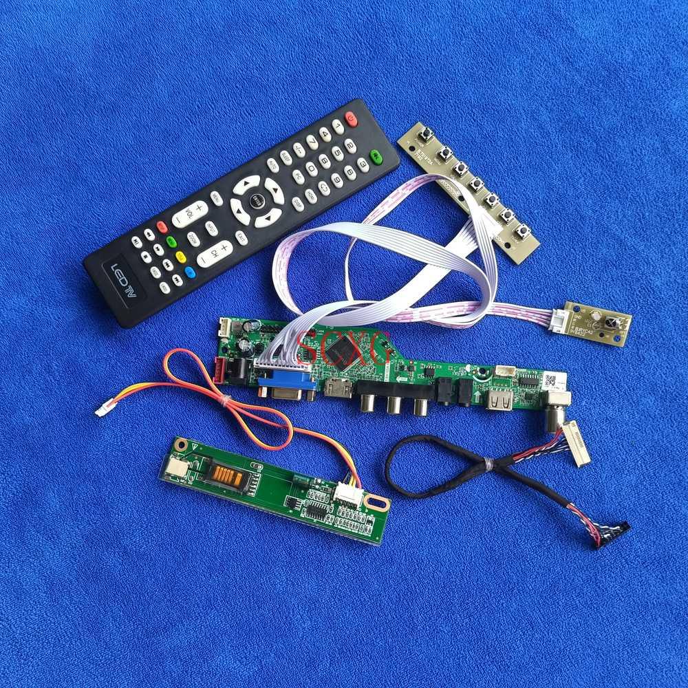 Fit LP150X2/LP150X05/LP150X06 لتقوم بها بنفسك عدة إشارة التناظرية USB VGA AV HDMI متوافق مع 30 دبوس LVDS 1CCFL LCD مصفوفة محرك مجلس 1024*768