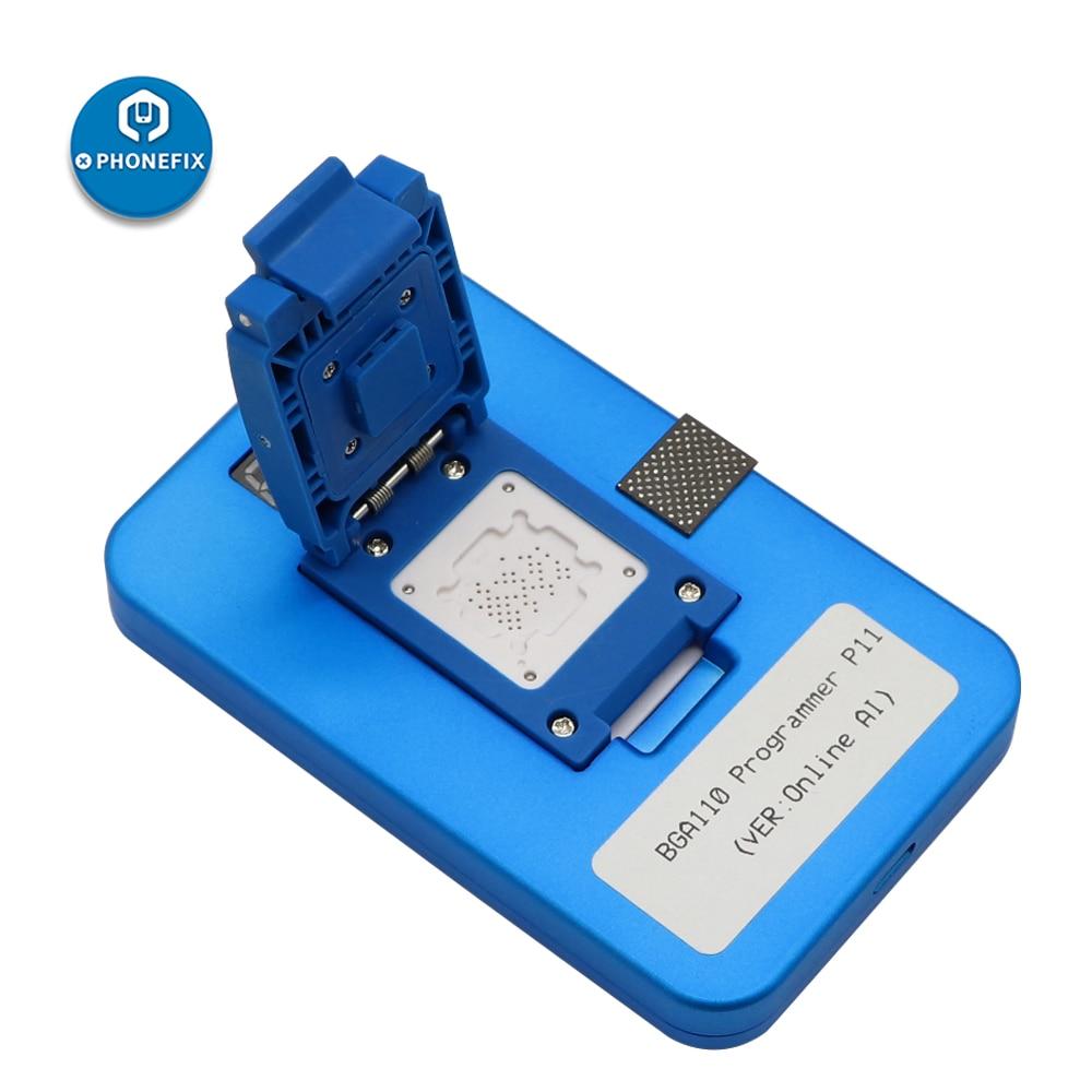 Programador JC P11 BGA110 para iPhone 8/8P/X/XR/XS/XSMAX NAND Flash para teléfono BGA110 NAND SYSCFG modificación de datos y reparación de escritura