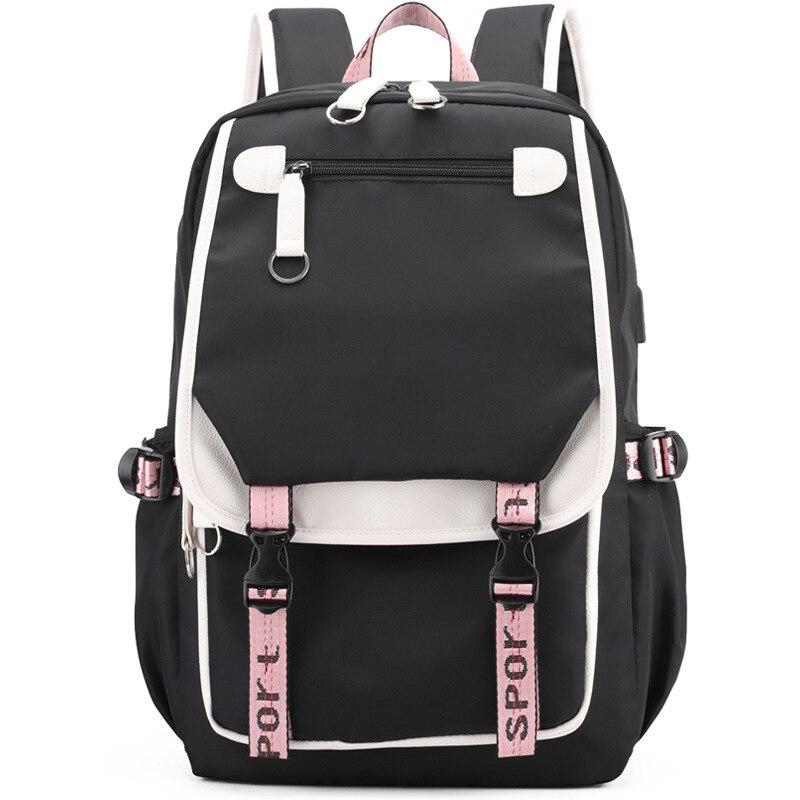 Повседневные школьные ранцы для девочек, женские рюкзаки, модные школьные ранцы с USB-зарядкой, Детские рюкзаки
