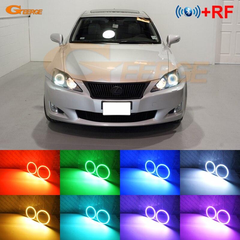 Lexus es II IS220 IS250 IS300 IS350 IS-F 2005-2010 RF remoto Bluetooth APP Multi-Color Ultra brillante RGB kit de luces LED Ojos de Ángel