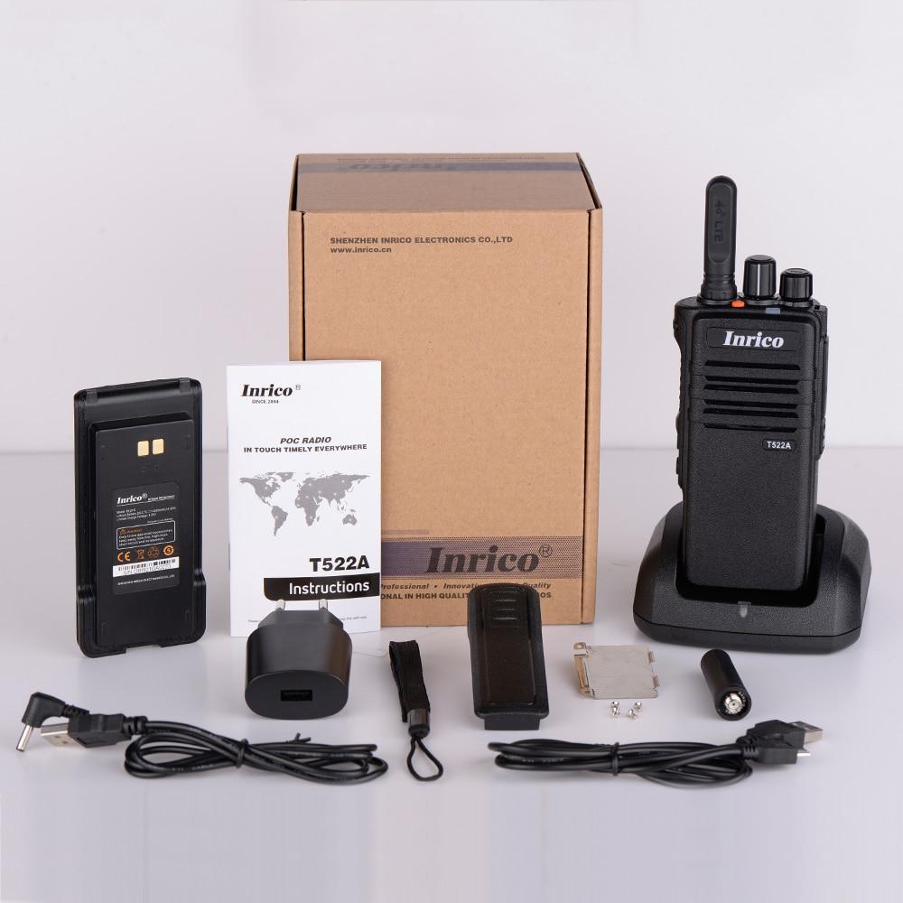 Inrico T522A Cheapest walkie talkie app 4G network talk radio GPS Bluetooth Rugged telephone portable radio 50km 100 km enlarge