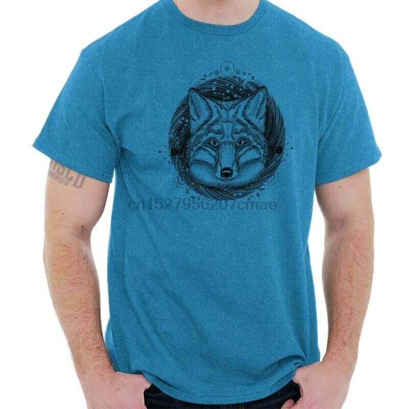 Camiseta de regalo del perro del símbolo místico de la tarjeta del Tarot de la camisa del Animal del espíritu de lobo