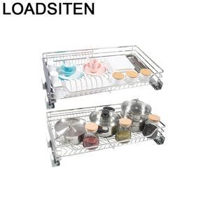 Cupboard Storage Organizador Cocina Cestas Para Colgar En La Ducha Stainless Steel Cuisine Rack Organizer Kitchen Cabinet Basket
