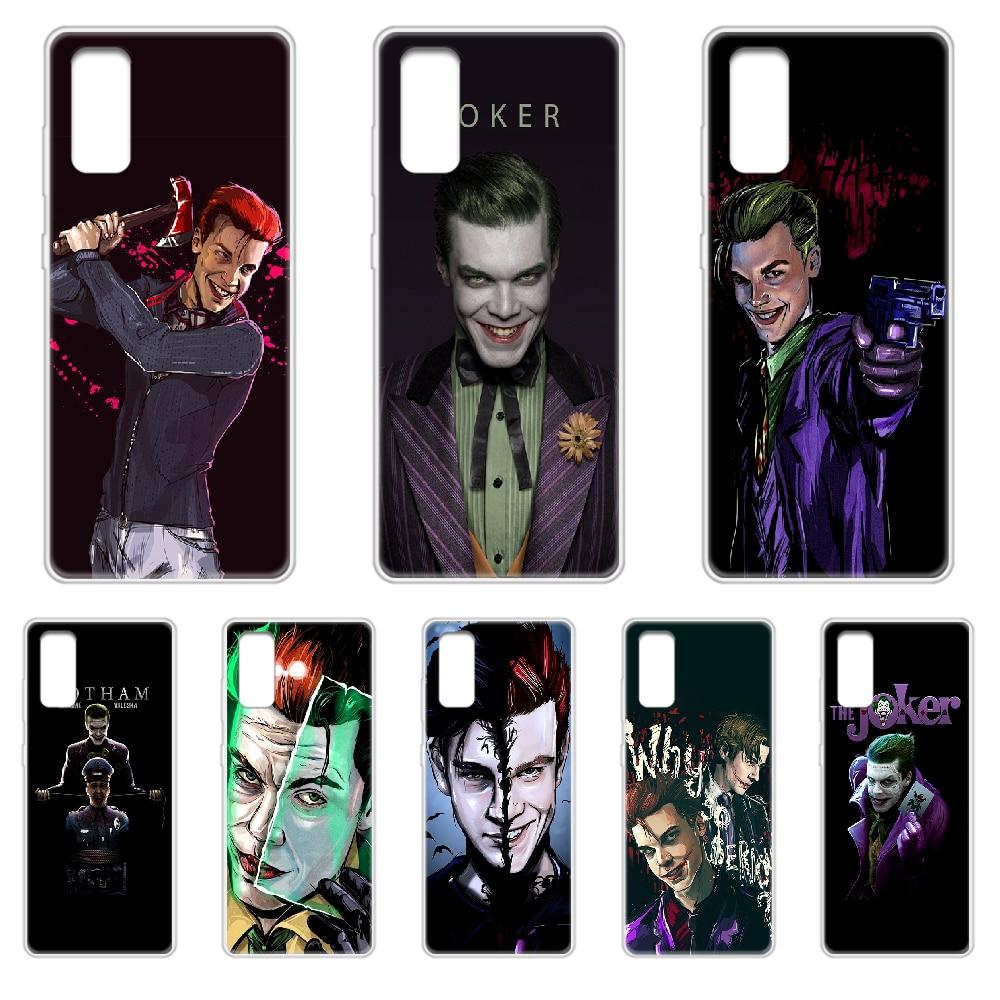 Ciudad Gótica Jerome joker DC cubierta de la caja del teléfono del casco para SamSung Galaxy S 7 8 9 10 11 20 20e 50 51 70 71 Plus Ultra transparente