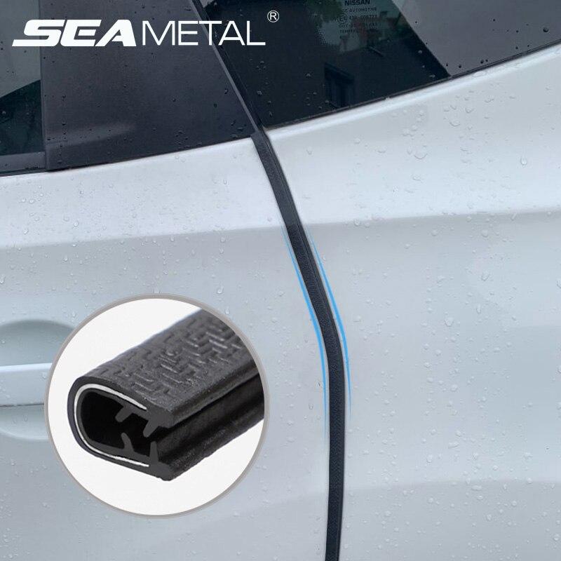 Protector de Borde de puerta de coche 10m antiarañazos tira de sellado guarnición pegatinas de puerta de automóvil molduras de estilo Accesorios de decoración
