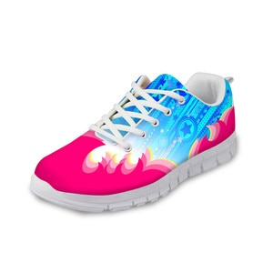 HaoYun Fashion Women Casual Sneaker Shoes Fantasy Pattern Girls White Flat Walking Shoes Ladies Comfortable Footwear Zapatillas