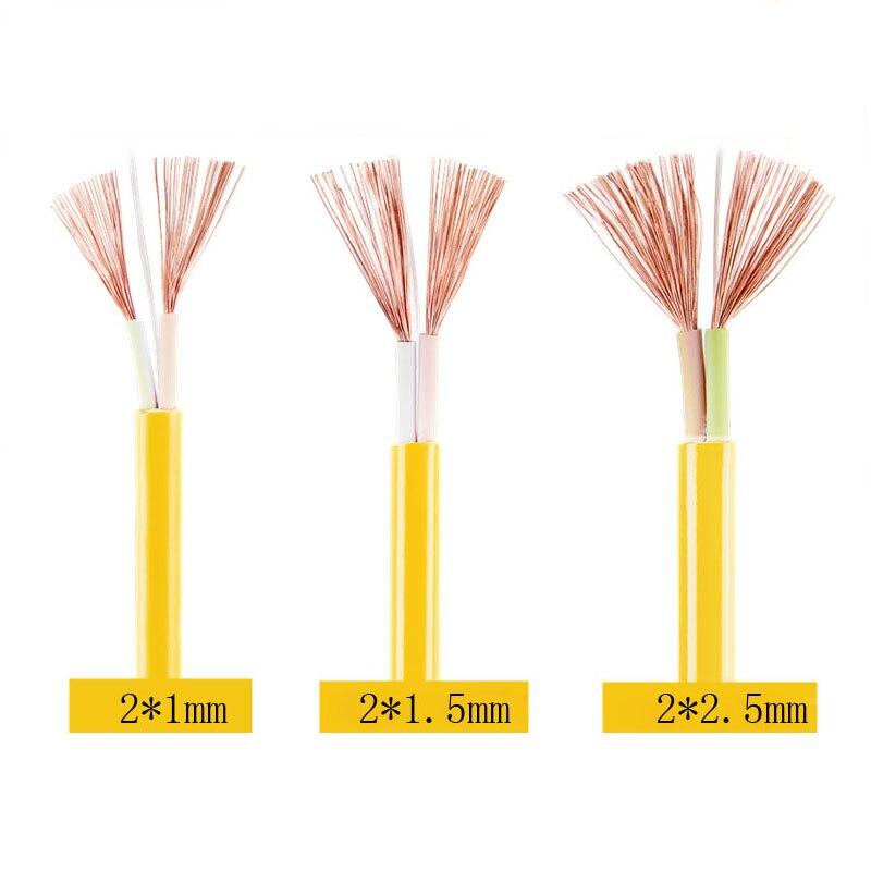 Cable eléctrico impermeable RVV de 10 metros, Cable doble de cobre de...
